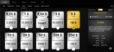 Spins Lobby Bwin