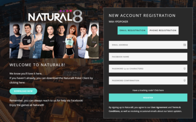 Natural8 Sign Up 1
