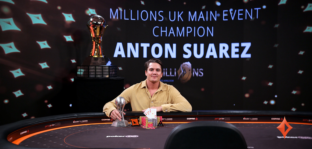 Anton Suarex won Millions UK Main Event