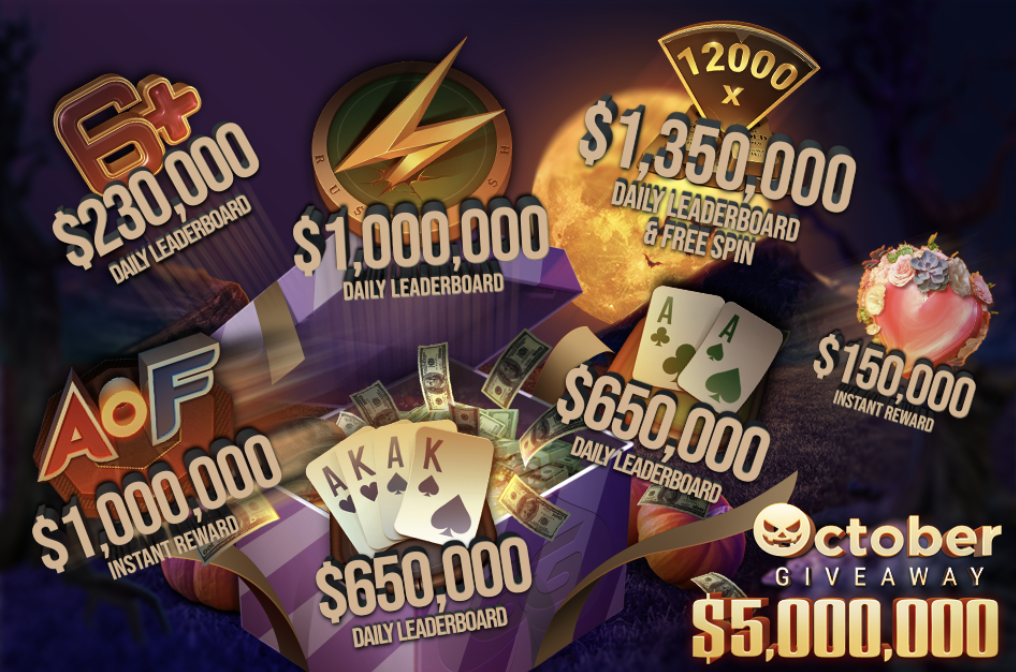 5 Millionen USD Giveaway in the GGPoker Network in October 2020